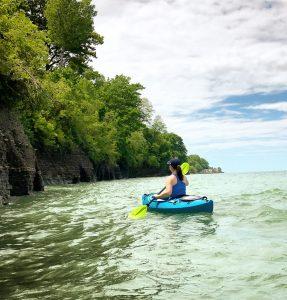 Kayaking Lake Erie in North East, PA